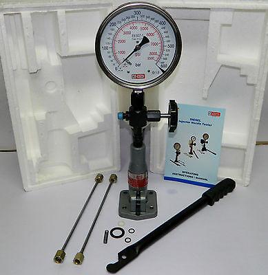 Diesel Injector Nozzle Pop Tester, 600 Bar / PSI Heavy Duty,SS Body Dual Gauge 5
