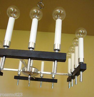 Vintage Lighting circa 1970 Mod square chandelier by Progress 4