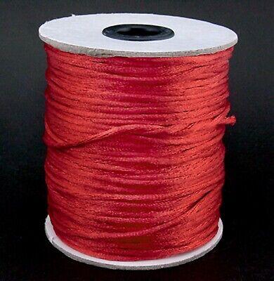 2mm Satin Rattail Cord Shamballa Nylon Macrame Kumihimo String 12