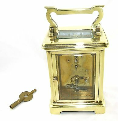 Antique Brass & Bevelled Glass Carriage Clock JAYS 142 & 144 OXFORD ST. W  (46) 8