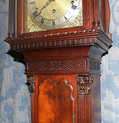 Antique Mahogany Grandmother Clock / Miniature Longcase : Westminster Chimes 9
