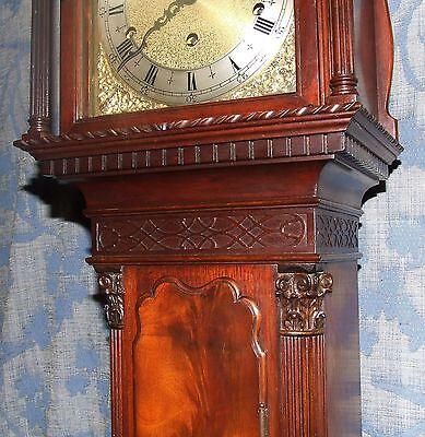 Antique Mahogany Grandmother Clock / Miniature Longcase : Westminster Chimes 9