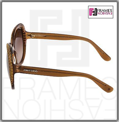 da427382d99 ... JIMMY CHOO LU Translucent Brown Diamante Crystal Butterfly Sunglasses  Lu S 4