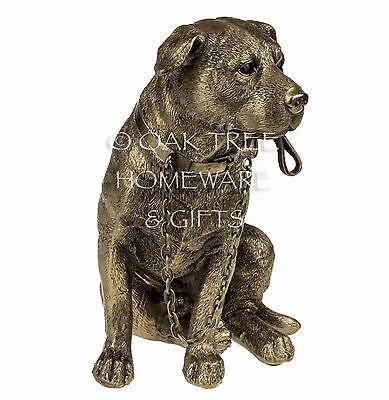 Staffordshire Bull Terrier Statue Bronze Dog Ornament Dog Memorial Figurine New 5