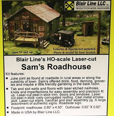 HO Scale BLAIR LINE SAM/'S ROADHOUSE KIT Item #BLR2003