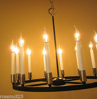 Vintage Lighting 1970s mod chandelier by Progress 3