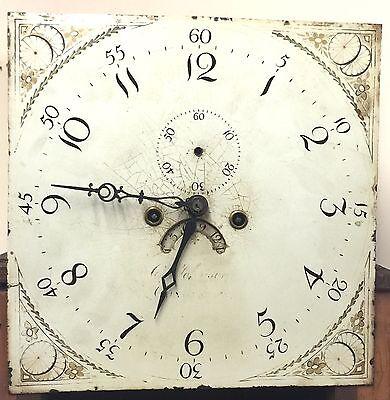 Antique Oak & Mahogany inlaid Longcase Grandfather Clock C Johnson CONGLETON 11