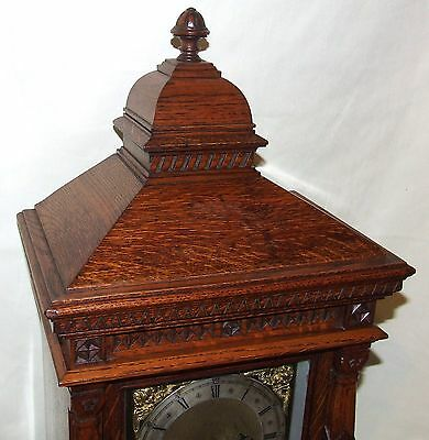 Antique Oak TING TANG Bracket Mantel Clock  Winterhalder & Hoffmeier W & H (a11) 3