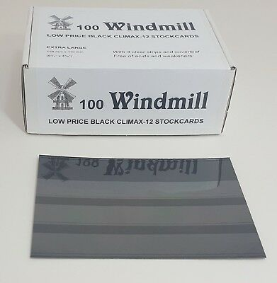 Windmill stockcards for stamps - Retail Boxed - for approvals etc 2 or 3 strips 5