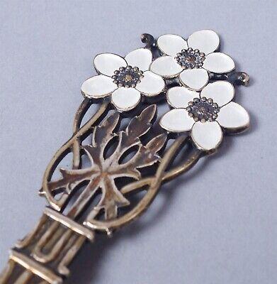 Vintage 1929 Danish A. Michelsen Sterling Silver Enamel Rose Christmas Spoon 4