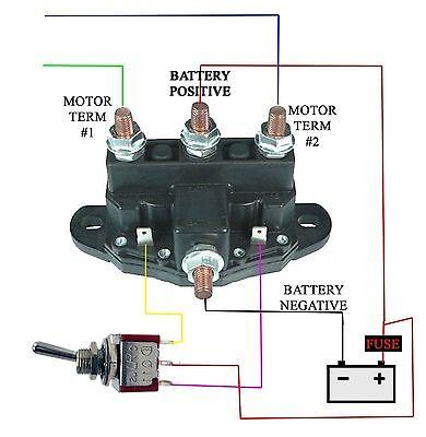 atv utv relay winch motor reversing solenoid switch new 12 volt2 of 3 atv utv relay winch motor reversing solenoid switch new 12 volt (heavy duty)
