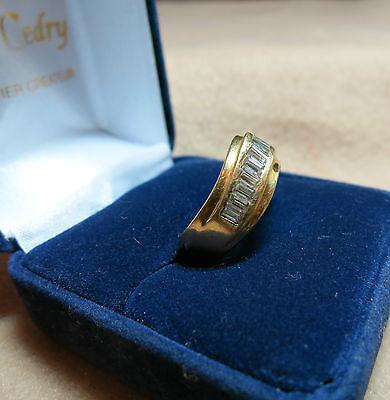 Magnifique Art Déco 14k Or Jaune Du Sud Marin Perle Blanche Bague Saphir Street Price Fine Rings