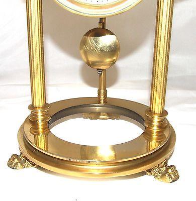 French Antique VINCENTI & CIE Drum Head Brass Striking Bracket Mantel Clock 6