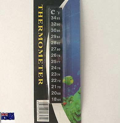Strip Stick on Thermometer Aquarium Fish Tank DIY Home Brew Beer Barrel Reader 7