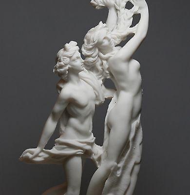 APOLLO & DAPHNE Bernini Greek Roman Nude God Cast Marble Statue Sculpture  11in
