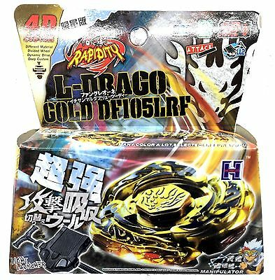 Beyblade GOLD L-DRAGO DESTROY 4D SYSTEM METAL FUSION MASTER FIGHT RAPIDITY 2