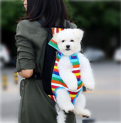 Pet Carrier Backpack Adjustable Pet Front Cat Dog Carrier Travel Bag Legs Out 3