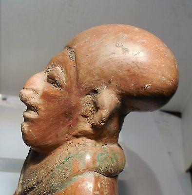 Pre Columbian Ecuador Female Fragment Authentic Jama - Coaque Pottery 6
