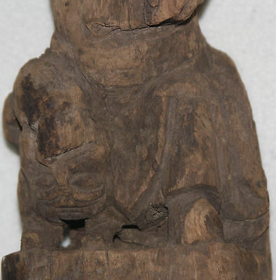 Rare Chinese Ming Dynasty 14th-15th Century Zhang Guo Lao Wood Figure 11