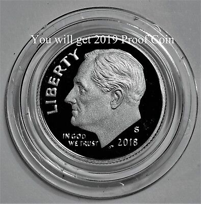 2019 S Roosevelt Dime *proof* First Strike Air Tight Capsule In Hand Free Ship 2