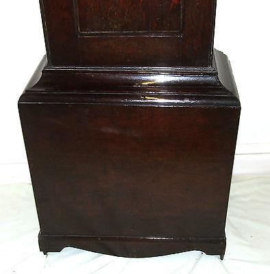 Early Petite Antique Oak Longcase Grandfather Clock 9