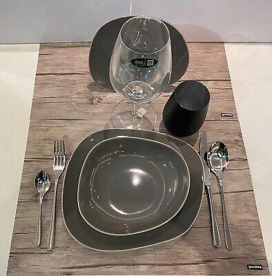 Villeroy /& Boch essen 12 Stück Für 4 Menschen ORGANIC DARK BLUE