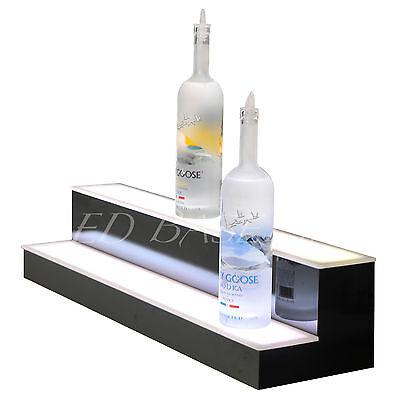 """32"""" LED Color Changing Bar Shelf bottle Glorifier 2 Step 4"""
