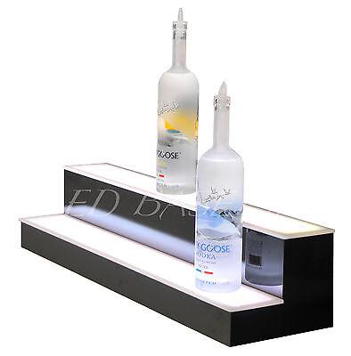 Groovy 28 Led Bar Shelf Two Step Liquor Bottle Shelves Bottle Display Shelving Rack Interior Design Ideas Grebswwsoteloinfo
