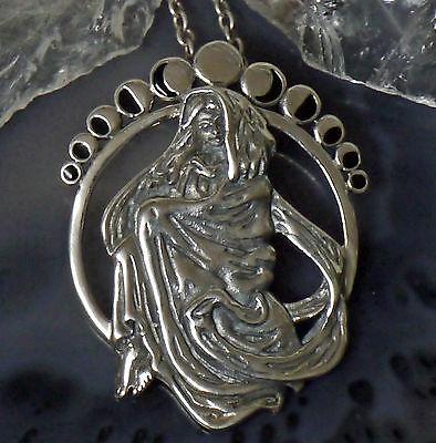 Peter Stone Schutzamulett Astarte Sternengöttin 925 Silber Erdgöttin Mondgöttin