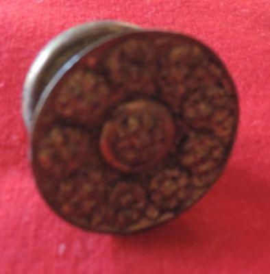 Antique 19th c. Gilt Brass Furniture Knob Drawer Pull Handle Federal Regency 5