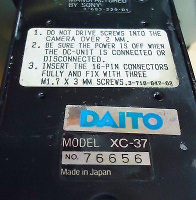 Sony Ccd Video Camera Module W/ Power Unit: M/n Xc-37 & Dc-37, S/n 76656 & 69183 3