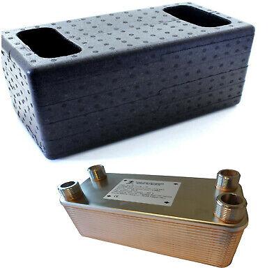 SCAMBIATORE di calore a piastre NORDIC TEC - INOX 1' (25) 125-450kW + ISOLAMENTO 6
