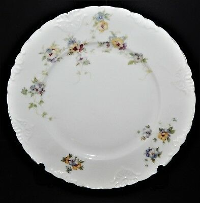 2 Herman Ohmne Silesia Germany China Dinner Plates Floral Pattern 140? Gold Trim 5
