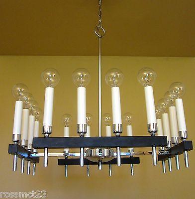 Vintage Lighting circa 1970 Mod square chandelier by Progress 2