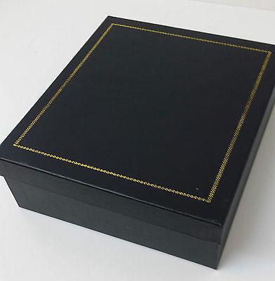 NEW BOXED Celtic Stud Black Bovine semi Kilt Sporran Made in Scotland 4