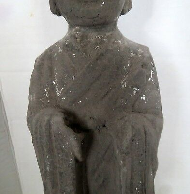 Large Old Chinese GUARDIAN TOMB ATTENDANT Antique - Pottery Statue Sculpture 8