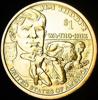 2018 P D Native American Jim Thorpe Dollar Set 1-P 1-D BU OBW Roll Coin's 2