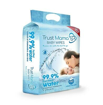Trust Mama Baby Wipes 99.9% Water Chemical Free For Sensitive Skin Pure Water(4) 2