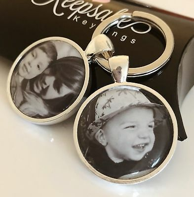 Personalised Custom Photo Keyring Chain Christmas Birthday Present Gift Box 2