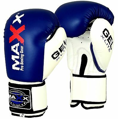 Maxx® Boxing Gloves Punch Bag Training MMA Muay Thai KickBoxing Fight Sparring U 5