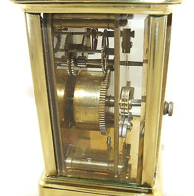 Antique Brass & Bevelled Glass Carriage Clock JAYS 142 & 144 OXFORD ST. W  (46) 10