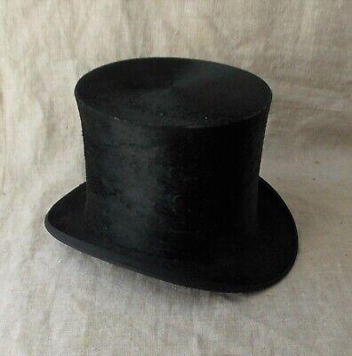 Los Angeles remise chaude plus grand choix de ANCIENNE BOITE A Chapeau En Cuir Et Son Chapeau Haut De Forme Leon Paris  19Eme