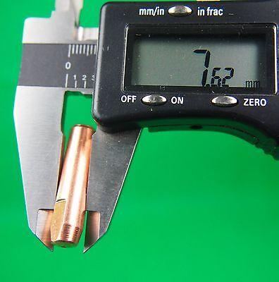 25Pcs 0.9mm MIG Tip  #7489 Bernard Style Mig Tips Push & Twist  32L x 7.9od 6