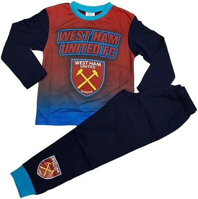 West Ham Utd FC Boys Football Pyjamas pjs Set Age 2 - 13 years HAMMERS IRONS 5