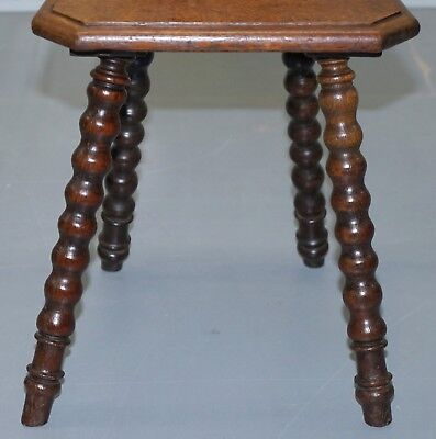Rare 19Th Century Black Forrest Carved Hall Chair Hand Carved Hawk Bobbin Turned 7