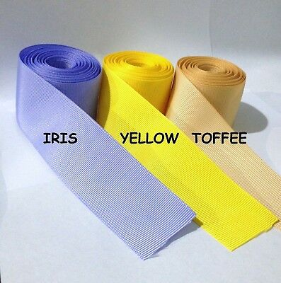 "3/8"" 5/8"" 7/8"" 1.5"" Grosgrain Ribbon 4 Yards of 1 Color Solid Bulk Wholesale 3"