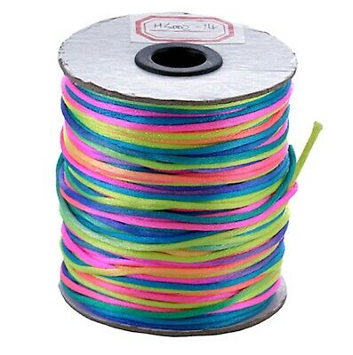 2mm Satin Rattail Cord Shamballa Nylon Macrame Kumihimo String 11