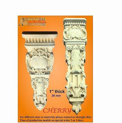 Wood carved solid Hardwood Vertical Decor 4