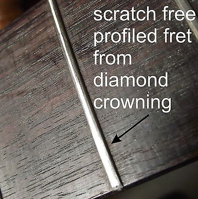 Diamond Guitar Fret Crowning File with Oak Handle. Concave Profile UK MADE TF085 8