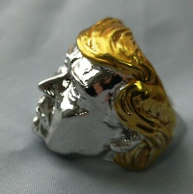 Silver Donald Trump Ring Gold US President Make America Great Again Great Leader 4